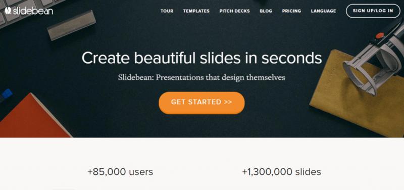 Slidebean- website hỗ trợ thiết kế slide chuyên nghiệp và miễn phí
