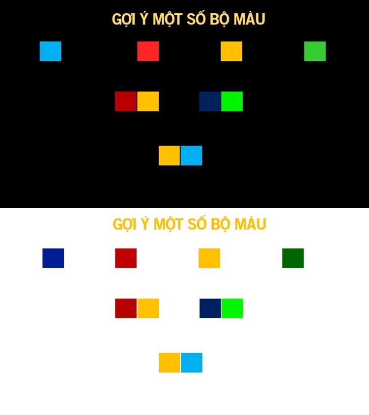 Màu sắc đồng nhất với thông điệp làm tăng độ nhất quán trong bố cục slide thuyết trình