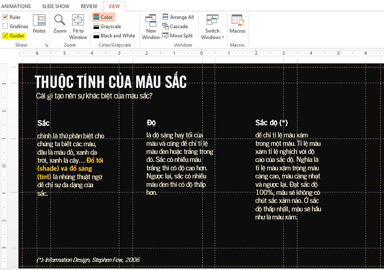 Guides - Công cụ hỗ trợ tạo bố cục slide thuyết trình