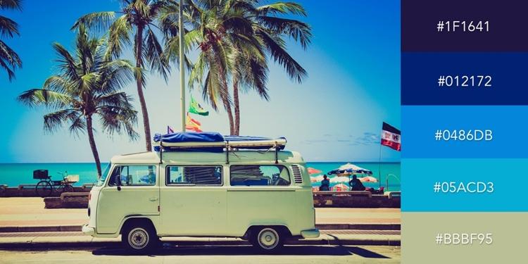 Nếu bạn đang tìm kiếm một hình ảnh đến những năm 70, màu sắc lấy cảm hứng từ hình ảnh một chiếc Volkswagen bên bờ biển có thể là một gợi ý hay