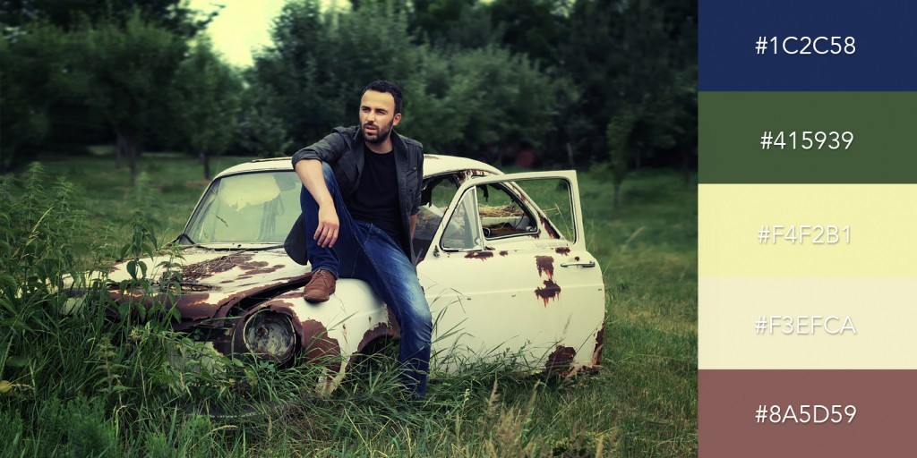 Old Car and Blue Jeans