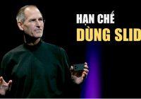 Steve Job hạn chế dùng slide