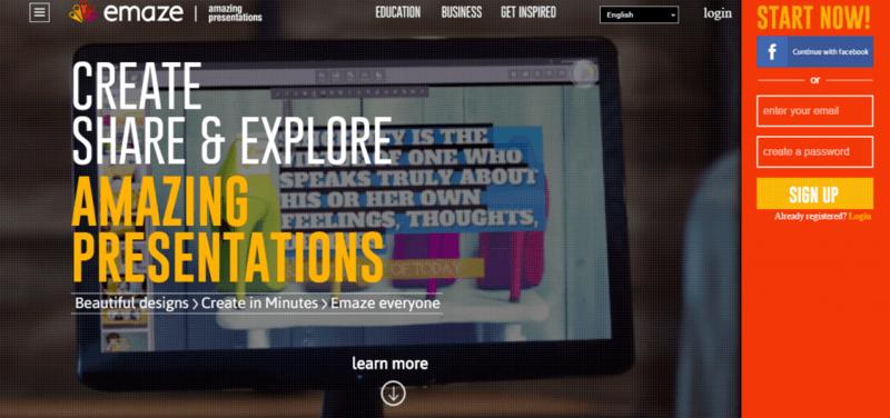 Emaze - website hỗ trợ thiết kế slide chuyên nghiệp và miễn phí