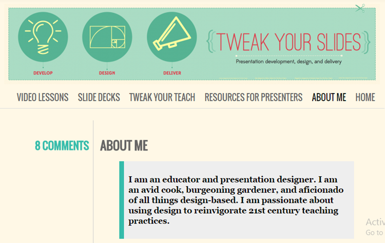 tweak your slides