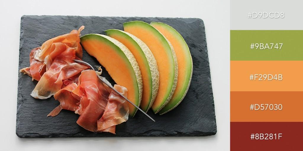 Một bảng màu hoàn toàn thích hợp cho các chủ đề ẩm thực, dinh dưỡng với những màu sắc trái cây quen thuộc
