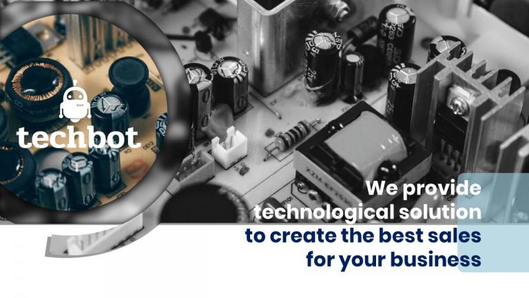 Techbot Software Presentation Light Blue