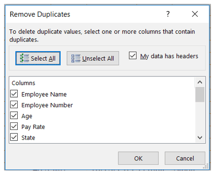 Remove Duplicate Excel