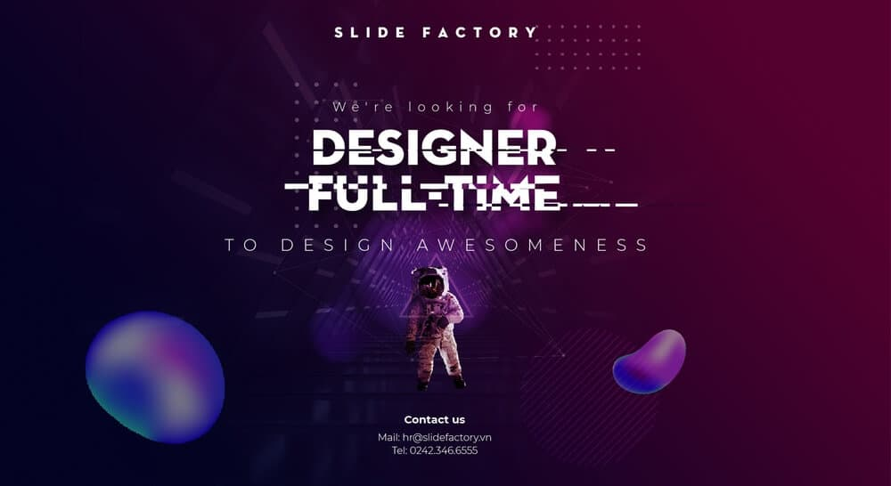 SLIDE FACTORY tuyển dụng Presentation Designer Full-time | PowerPoint