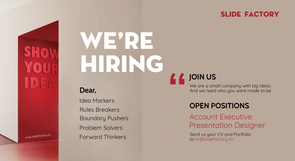 SLIDE FACTORY tuyển dụng Account Executive