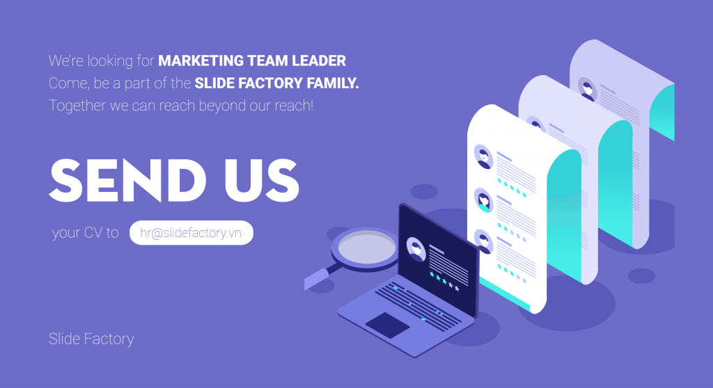 SLIDE FACTORY tuyển dụng Marketing Team Leader