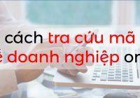 Tra cứu mã số thuế doanh nghiệp
