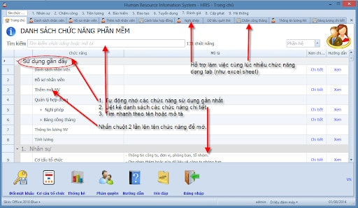 Phần mềm quản lý nhân sự SV. HRIS