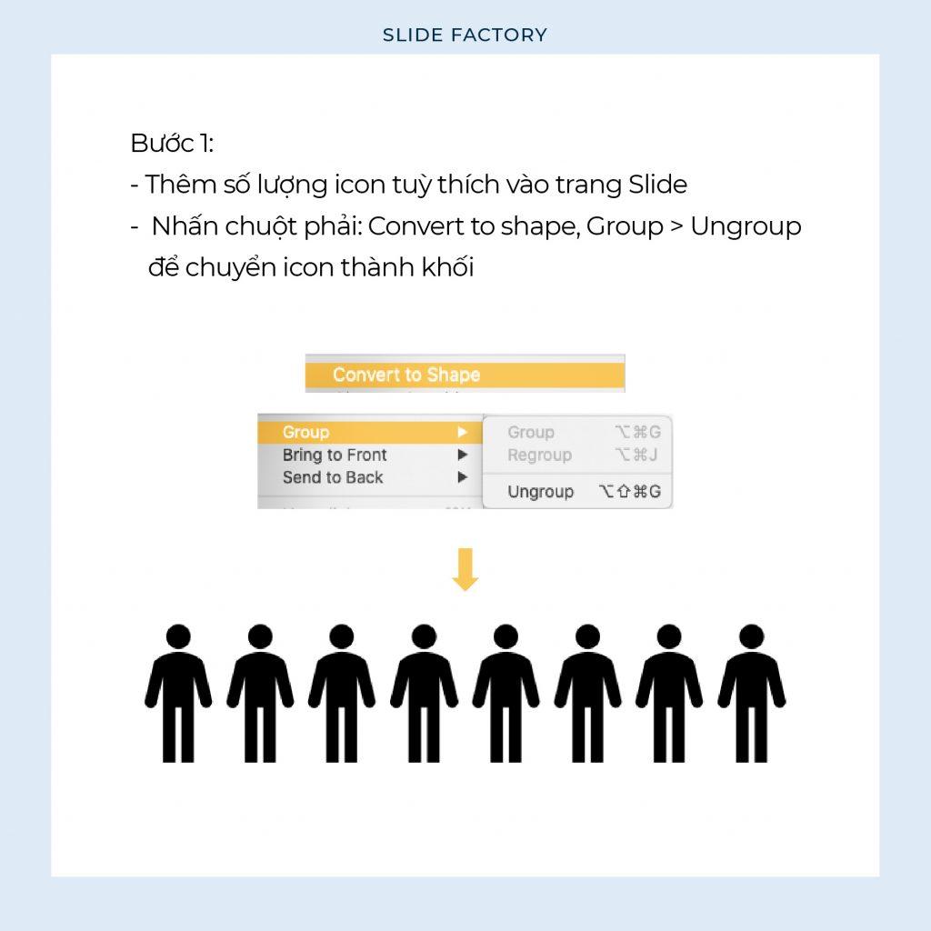 Hướng dẫn tạo biểu đồ Icon trên Powerpoint